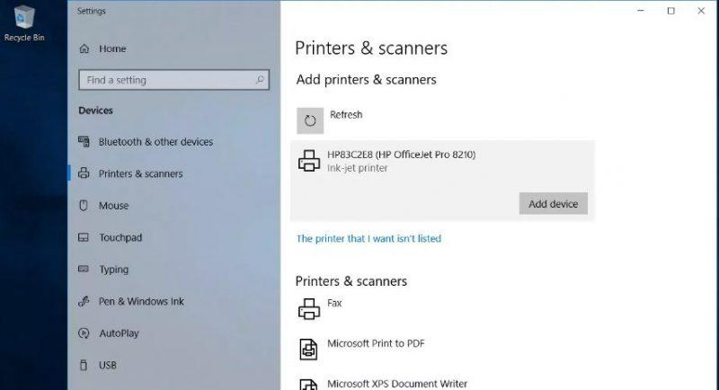 add device printer