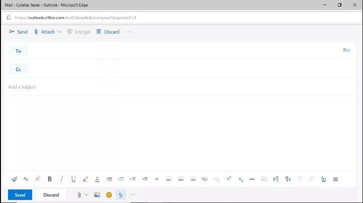 Buat pesan baru di email