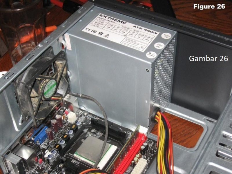 Cara Merakit Komputer 10 : Pasang Power Supply