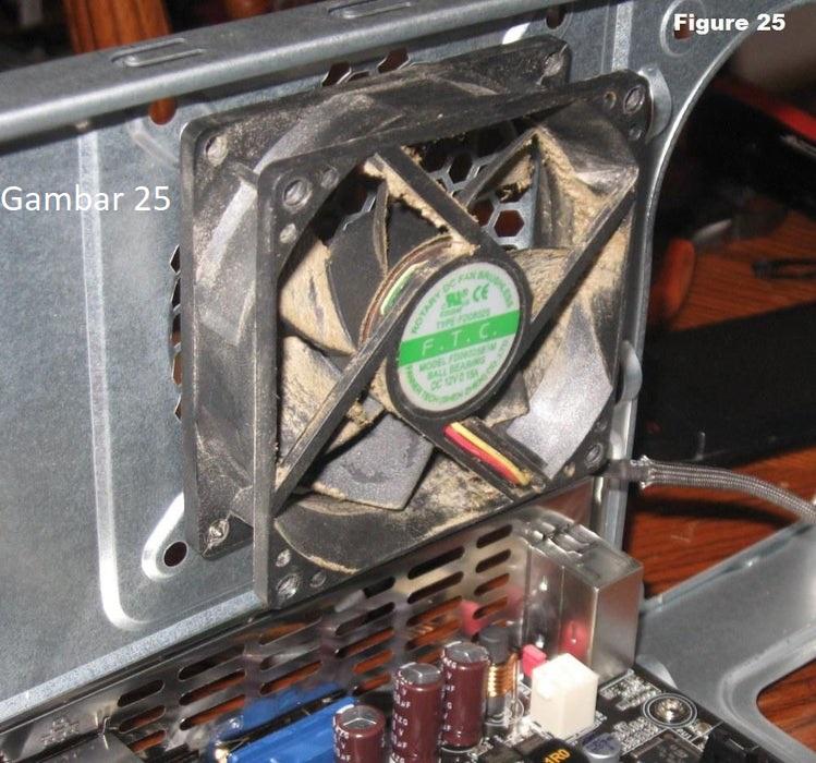 Cara Merakit Komputer 9 : Pasang Kipas Case