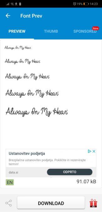 cara ubah font dengan aplikasi