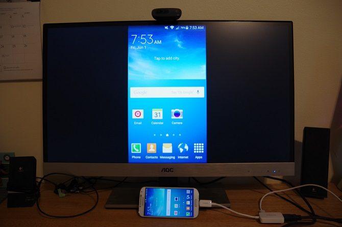 Cara Menyambung HP dan Tablet ke TV