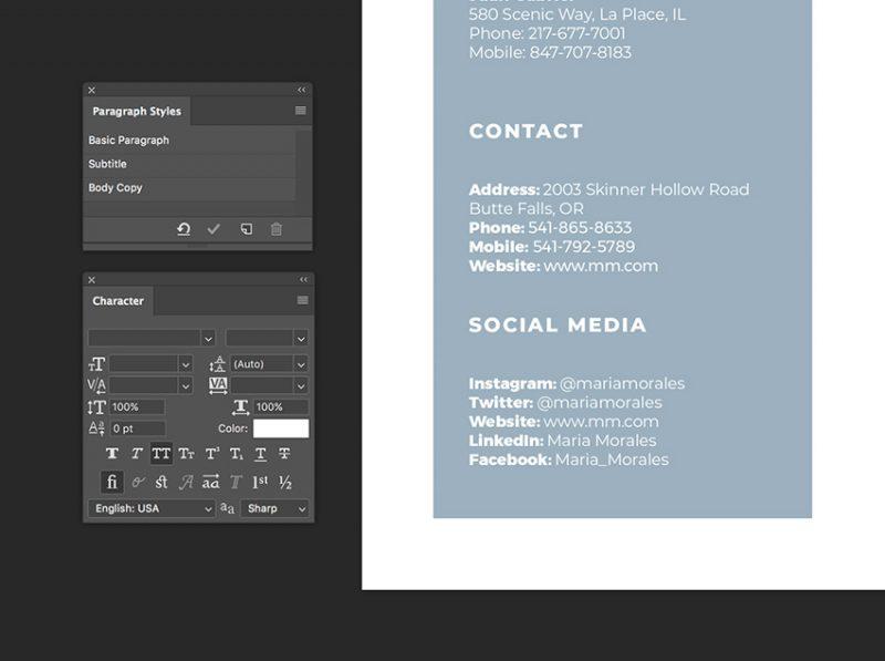 Cara Membuat CV di Photoshop