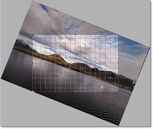 Langkah crop gambar sebelum di rotate