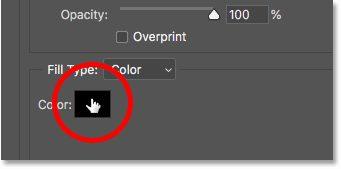 Mengklik swatch warna stroke di kotak dialog Layer Style