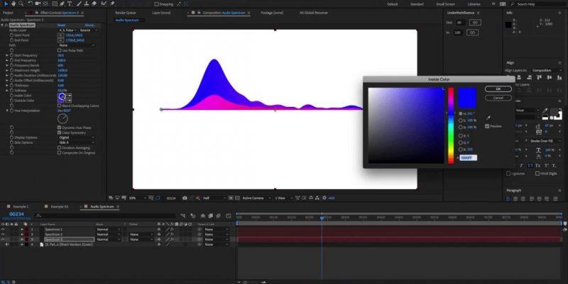 Cara membuat audio spectrum di after effect