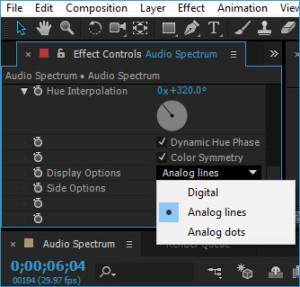 Pada Display Options drop down pilih Analog Lines