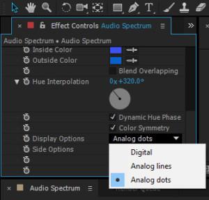 Pada Display Options drop down pilih Analog dots