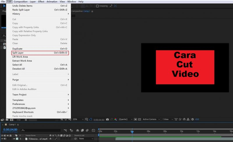 Cara Memotong Video di after effect