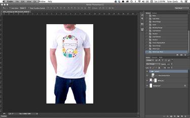 ukuran desain baju di photoshop