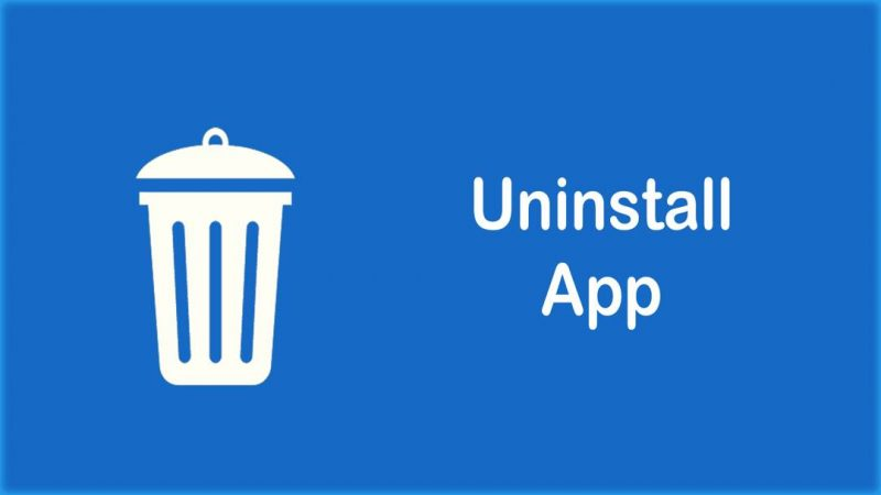 Uninstall software