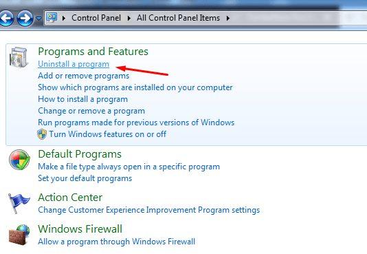 Cara Uninstall Aplikasi di Windows 7