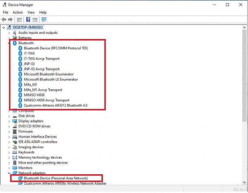 Cara Mengaktifkan Bluetooth di Laptop pada menu device manager