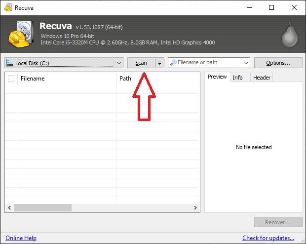 scan file recuva