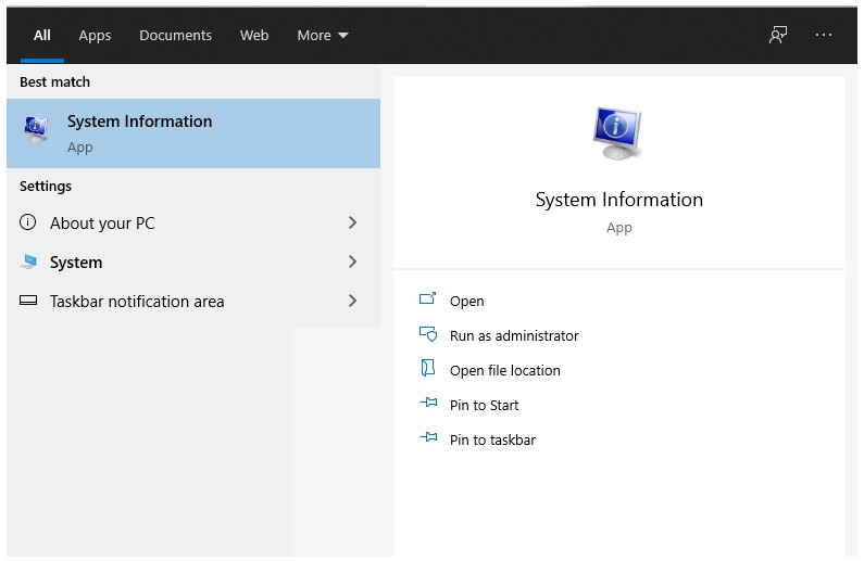 Cek Melalui System Information